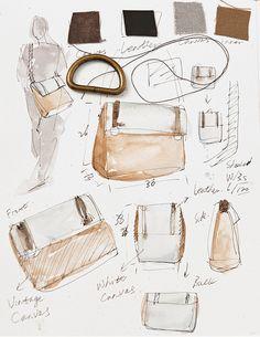 Postman bag design sketches / illustrations - Another! Cheap Purses, Unique Purses, Fashion Design Sketches, Sketch Design, Postman Bag, Drawing Bag, Sacs Design, Industrial Design Sketch, Susanoo