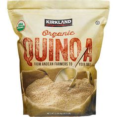 "Quinoa - known as the ""mother grain"" In South American culture - dates back to the Incan Empire and is actually a seed, not a grain. Today, we enjoy quinoa for its great taste and nutritional properties. Quinoa is one of nature's complete plant proteins. Healthy Food Options, Healthy Recipes, Fast Recipes, Vegan Options, Healthy Habits, Snack Recipes, Dessert Recipes, Snacks, Organic Quinoa"