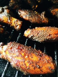 Smoked Jerk Chicken with Caribbean Rum Sauce - Cooks Well With Others Jerk Chicken Wings, Smoked Chicken Wings, Glazed Chicken, Canned Chicken, Sriracha Chicken, Cola Chicken, Coconut Chicken, Fried Chicken, Caribbean Rum