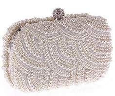 Women's Crystal Evening bag Retro Beaded Clutch Bags Wedding Diamond Beaded Bag Rhinestone Small Shoulder Bags