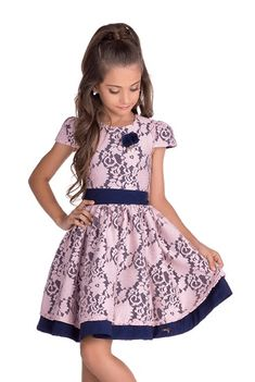 Vestido Diforini Moda Infanto Juvenil 011009 African Dresses For Kids, Kids Outfits Girls, Toddler Girl Outfits, Little Girl Dresses, Girls Dresses, Kids Dress Wear, Mom Dress, Lila Baby, Girls Special Occasion Dresses