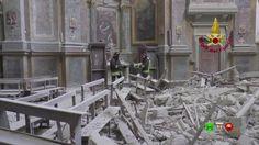 Vigili del Fuoco - Camerino - Chiesa S. Maria in Via recupero tele ed og...