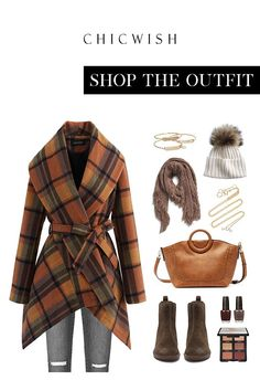 Free Shipping & Easy Return. Up to 30% Off. Plaid Pattern Rabato Coat in Caramel #womenfashion #clothing #coat #coats #rabatocoat #warm #chic #datingoutfit #falloutfit #winteroufit #wrapcoat Cute Fall Outfits, Fall Winter Outfits, Pretty Outfits, Autumn Winter Fashion, Cool Outfits, Casual Outfits, Fashion Outfits, Funky Outfits, Date Outfits