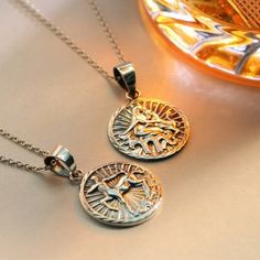 Bling Jewelry Sterling Silver Zodiac Large Disc Pendant