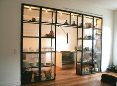 23 Multipurpose Room Divider Ideas for Stylish Apartment - Home Design and Decor Kitchen Wall Shelves, Wall Shelf Decor, Glass Shelves, Glass Cabinets, Wall Cabinets, Kitchen Remodel Cost, Multipurpose Room, Home Improvement Projects, Cheap Home Decor