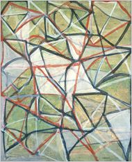 """Untitled # 3,"" by Brice Marden, at the Museum of Modern Art. Brice Marden: A Retrospective of Paintings and Drawings - Art - Review - New York Times"