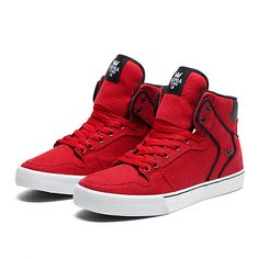 SUPRA VAIDER | ATHLETIC RED / BLACK - WHITE | Official SUPRA Footwear Site