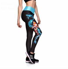 Dámské sportovní fitness legíny s vodním drakem – Velikost L Na tento  produkt se vztahuje nejen 9e42499dfc