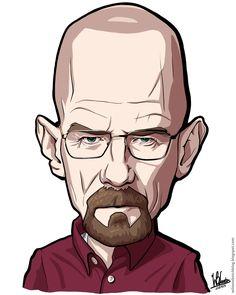walter whte caricature - Google Search