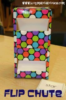Classroom DIY: DIY Flip Chute *can use for drilling with vocab, different verb tenses, singular/plural nouns, etc.