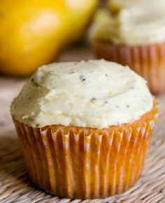 Low FODMAP Recipe and Gluten Free Recipe - Lemon & poppyseed cupcakes     http://www.ibssano.com/low_fodmap_recipe_beef_stroganoff.html