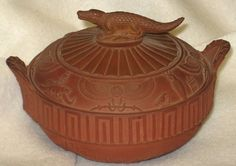 WEDGWOOD EGYPTIAN REVIVAL ROSSO ANTICO Sugar Bowl & Lid c.1800 RARE ANTIQUE   #Wedgwood