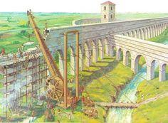 roman polyspastos crane - Cerca con Google #RomanHistory
