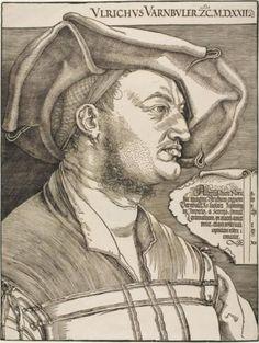 """Portrait of Ulrich Varnbuler"" by Albrecht Dürer. Image from The Met's online collection. Albrecht Durer, Chiaroscuro, Oil On Canvas, Canvas Prints, Art Prints, Public Domain, Renaissance Kunst, Landsknecht, Italian Artist"