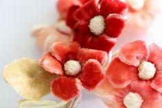 Simple but pretty velvet flowers