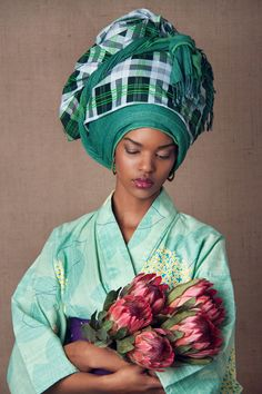 """The Head Dress"" Editorial by South African photographer Lauren Fletcher #flowers"