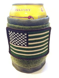 Tactical Ranger Green Military Made in the USA Beer Camo Coozie Koozie Cozy Cooler with Velcro Us Flag Pantel Tactical http://www.amazon.com/dp/B00OX26GV8/ref=cm_sw_r_pi_dp_ftwvub0174DDW