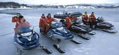Salida en motonieves por el paisaje nevado de #Laponia