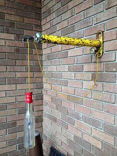 Bicycle Pump Lantern  Industrial Furniture  by newwineoldbottles, $130.00