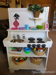 Playkitchen_redo. this would be a great project to tackle! #kids #playhouse