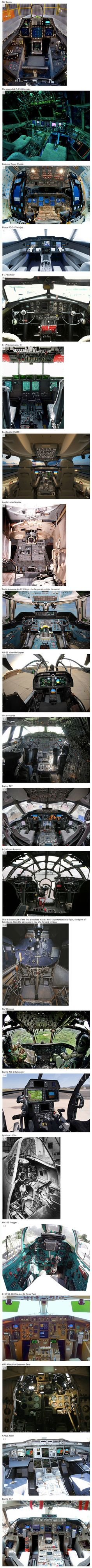We have rounded up some fascinating images that will take you inside the cockpit of high-tech flying machines.