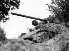 Sherman tank in Normandy.