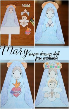 Paper Mary Dolls {free printable}