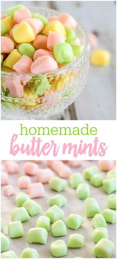 homemade sweets With just five ingredients, you can make sweet and creamy homemade butter mints. They are perfect for any gathering, and make great gifts! Homemade Sweets, Homemade Candies, Homeade Candy, Homemade Candy Recipes, Homemade Things, Homemade Food, Buttermints Recipe, Baking Recipes, Dessert Recipes