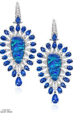 Cellini Sutra Jewels Opal Teardrop Earrings #opalsaustralia