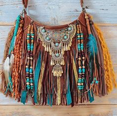 We approach our bags as pieces of wearable art. Gypsy Style, Hippie Style, Hippie Boho, Boho Gypsy, Boho Style, Clothing Hacks, Boho Clothing, Diy Gifts To Sell, Diy Clothes Accessories
