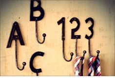 Letters and numbers hooks