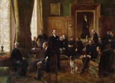 1887......AU SALON DE LA COMTESSE POTOCKA..........PARTAGE DE LE PEINTRE JEAN BERAUD...........SUR FACEBOOK............