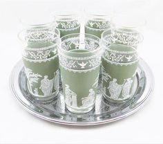Jeanette Hellenic Green Tumblers Green Band Decal Grecian