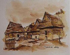 Kresby - Slovenské chalúpky - 258412 Texture, Wood, Crafts, Painting, Art, Surface Finish, Art Background, Manualidades, Woodwind Instrument