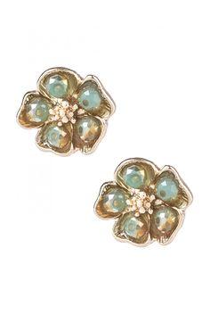Type 1 Mint Peonies Earrings - New Arrivals