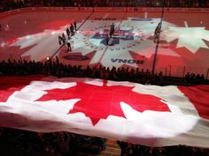 The largest flag in the world is a Canadian flag that mad an appearance in several Olympics. Canadian Things, I Am Canadian, Canada Eh, Toronto Canada, All About Canada, Amazing Places On Earth, How Lucky Am I, Vancouver Canucks, Great Pic