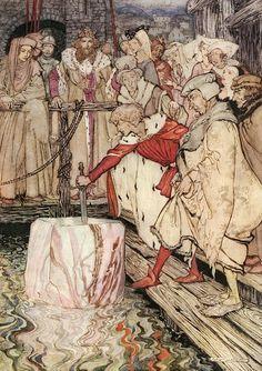 The Romance of King Arthur. Illustrated by Arthur Rackham – 1917