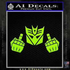 Decepticon The Fingers Decal Sticker | » A1 Decals