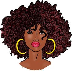 {Grow Lust Worthy Hair FASTER Naturally}>>> www.HairTriggerr.com <<<      Big Afro-Big Hoops Natural Hair Art