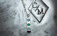 Three Birthstone Necklace