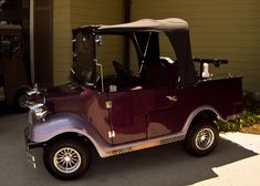 Custom Golf cart for a quick run to the grocery store ! Perfect...