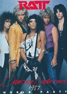 Ratt is an American rock band that had significant commercial success in the with their albums having being certified as gold, platinum, and multi-platinum by the RIAA. 80s Metal Bands, 80s Hair Metal, Hair Metal Bands, 80s Rock Bands, 80s Hair Bands, 80 Bands, Glam Metal, Rock & Pop, Rock N Roll