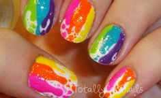 rainbow drip nail stylee(: Deffinetly my taste...(: