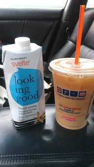 Love! Add Svelte french vanilla to black iced coffee