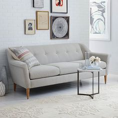 Finn Grand Sofa, Heathered Tweed, Cement At West Elm - Couches - Sectionals - Living Room Furniture Sofa Couch, Living Room Sectional, My Living Room, Living Room Decor, Easy Home Decor, Cheap Home Decor, Sofa Furniture, Living Room Furniture, Luxury Furniture
