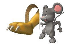 Animated Gif Animals | Animated GIFs » Animals » Mouse Hole Cat Claw