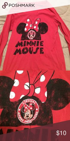 Minnie Mouse Shirt Burnt orange Minnie Mouse shirt. Fits like an adult XS. Slightly faded. Tops Tees - Long Sleeve
