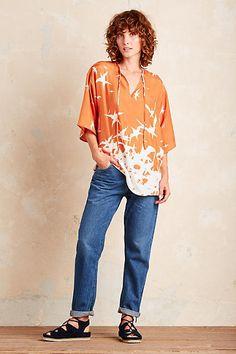J.Lindeberg Ilina Silk Blouse, Orange