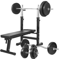270afa30d87 Buy Gorilla Sports Weight Bench With from £199.99 - Compare Today s Best 2  Prices. From 110.00 Gorilla Sports Weight Bench With 100kg Vinyl Complete  ...
