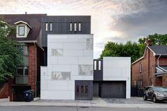 Mount pleasant house, Toronto. Roundabout studios. EQUITONE facade materials. equitone.com